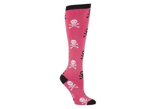 Sock It To Me Skulls Pink Socks