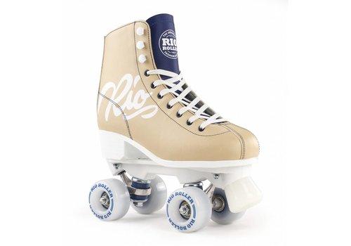 Rio Roller Rio Script Tan/Blue Roller Skates