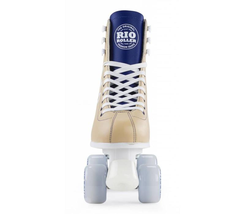 Rio Script Tan/Blue Roller Skates