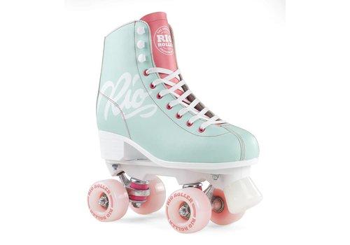 Rio Roller Rio Script Teal/Coral Roller Skates