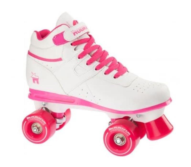 Rookie Odyssey Wit/Roze Roller Skates - Maat 34.5