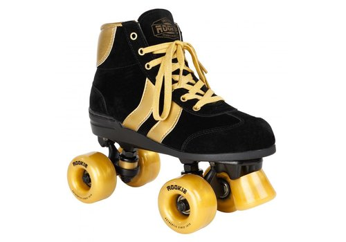 Rookie Rookie Authentic Black/Gold Roller Skates size 37