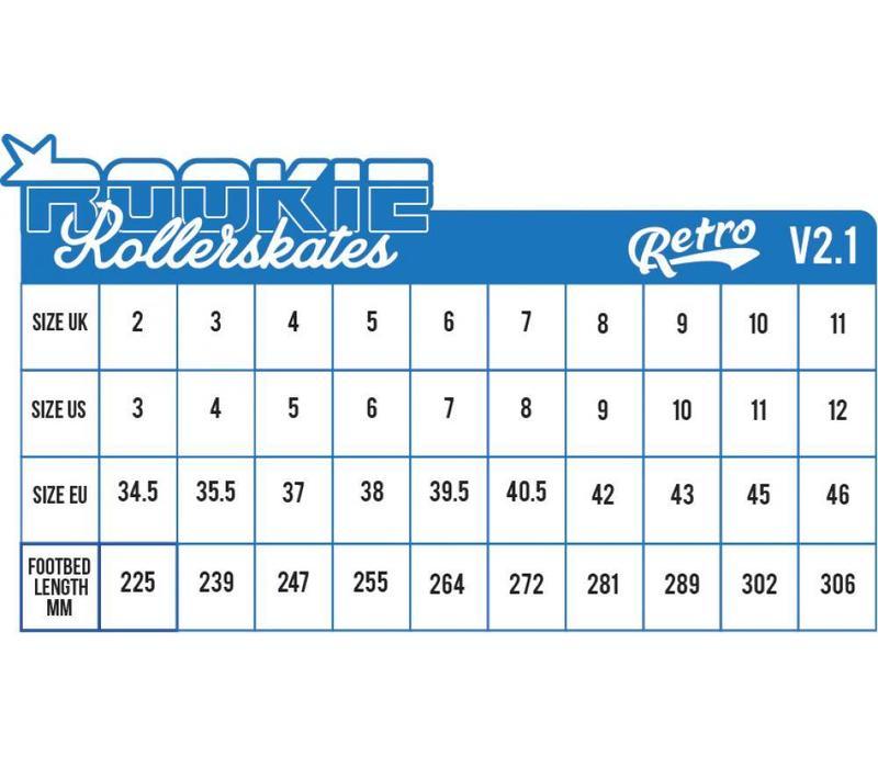 Rookie Retro V2.1 Blauw/Geel Rolschaatsen
