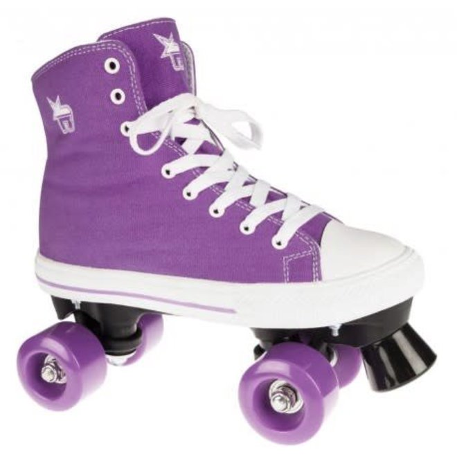Rookie Canvas High Purple Roller Skates - 32 EU