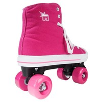 Rookie Canvas High Pink Roller Skates