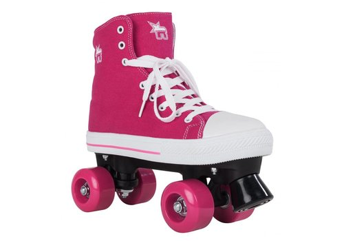 Rookie Rookie Canvas High Roze Roller Skates