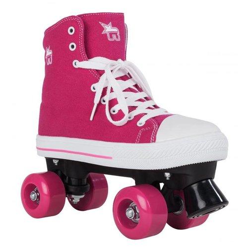 Rookie Canvas High Roze Roller Skates