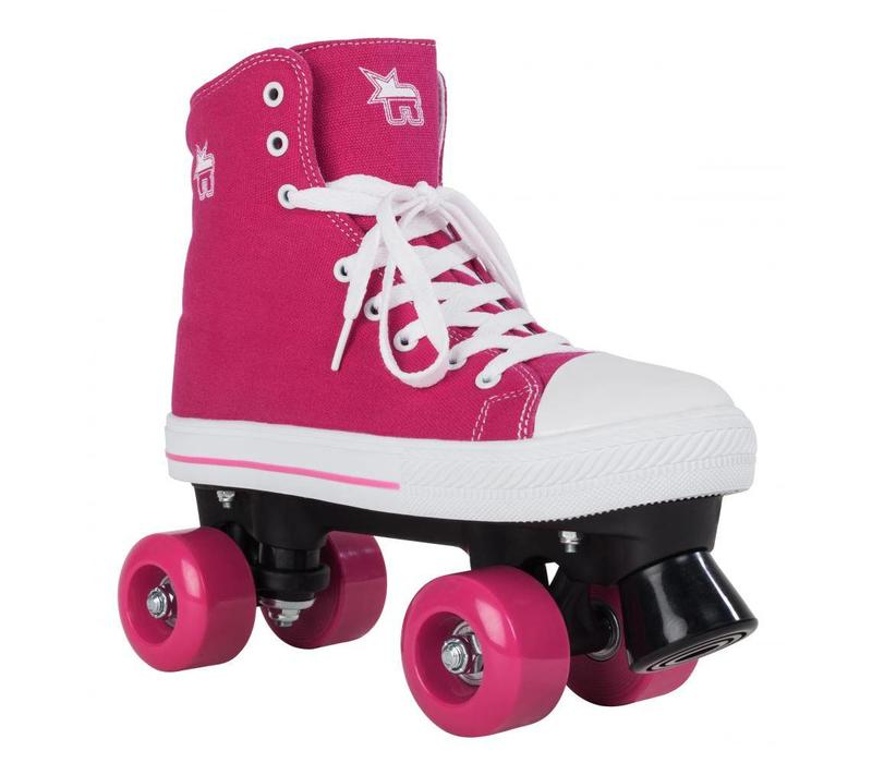 Rookie Canvas High Roze Roller Skates