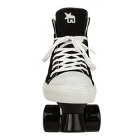 Rookie Canvas High Black Roller Skates