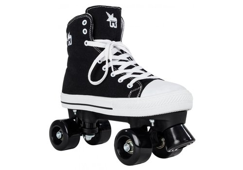 Rookie Rookie Canvas High Black Roller Skates