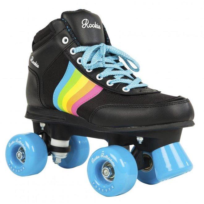 Rookie Forever Rainbow Black Roller Skates