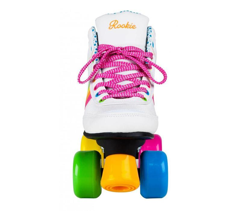 Rookie Forever Rainbow White Roller Skates