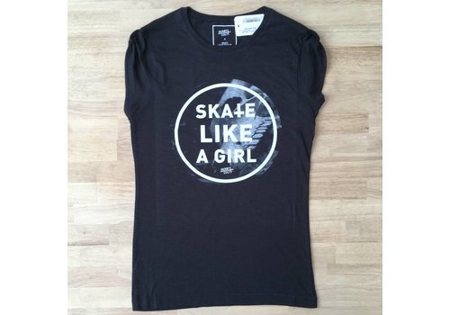 Derby Cult Derby Cult + Skate Like a Girl - T-Shirt Female Rolled Sleeve