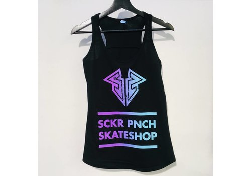 Sucker Punch Skate Shop Sucker Punch Color Logo Racerback Top