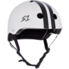 S1 Helmet Co. S1 Lifer Helmet White w/ Black Stripes