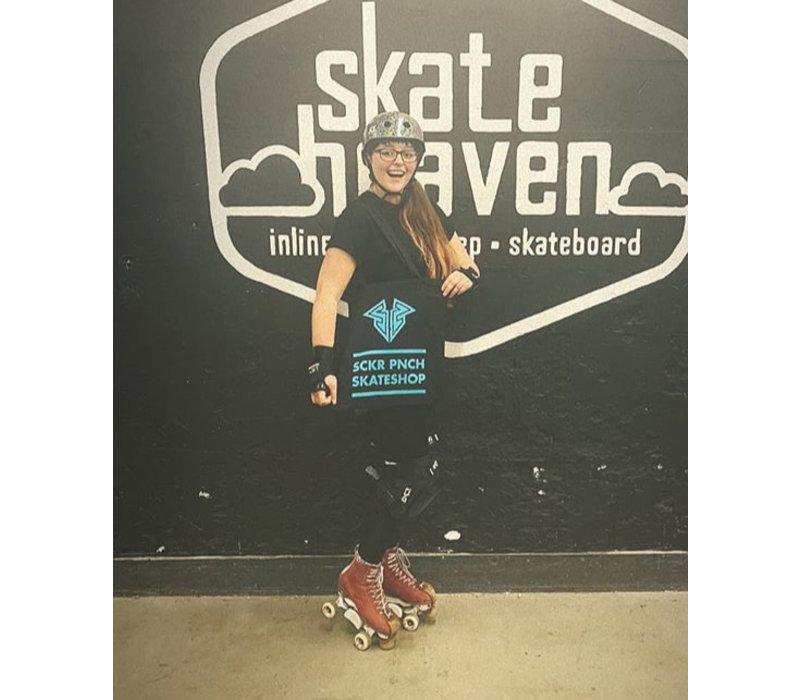 Sucker Punch Skate Shop Totebag - Turquoise Print