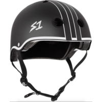 S1 Lifer Helmet Black Matte with White Outline