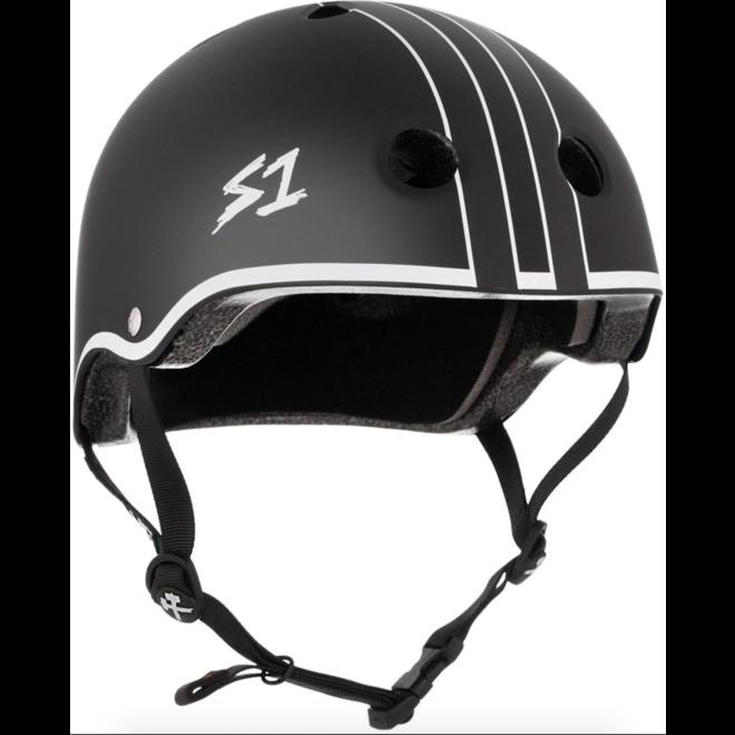 S1 Lifer Helmet Black Matte with White Outline