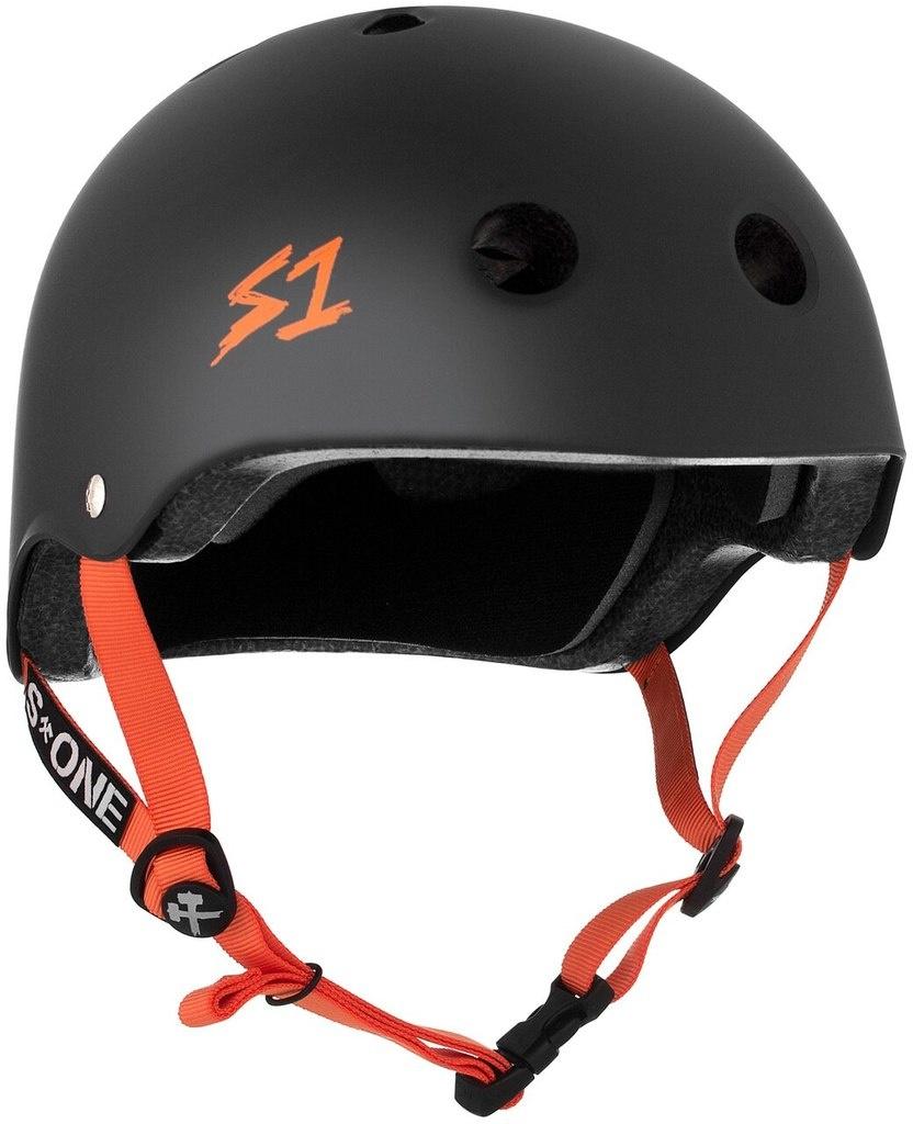 S1 Black Matte Lifer with orange straps