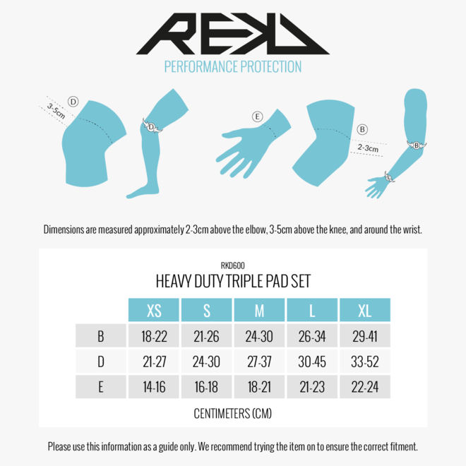REKD HD Triple Pad Set