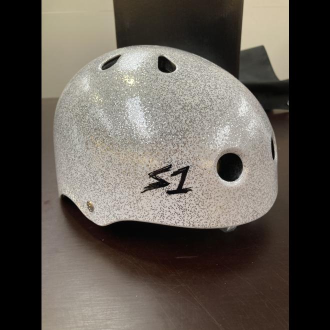S1 Lifer Helmet White Metal Flake