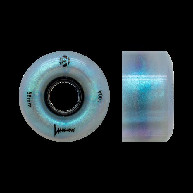 Luminous Light Up Wheels - Black Pearl - 58mm - 100A