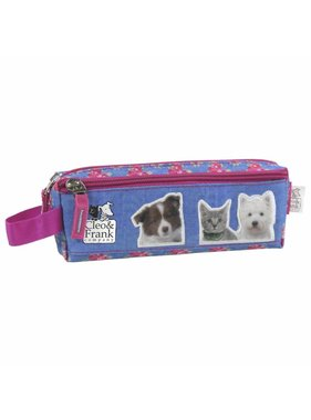 Cleo & Frank Pencil Case with 2 zippers