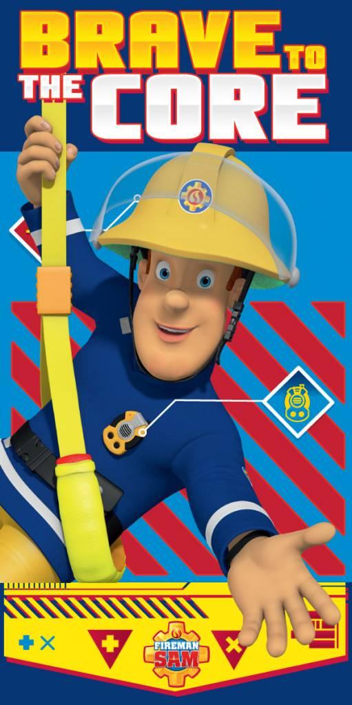 Brandweerman Sam Brave - Strandlaken - 70 x 140 cm - Multi