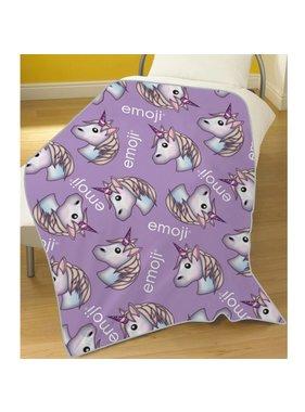 Emoji Fleece plaid Unicorn 100 x 150 cm