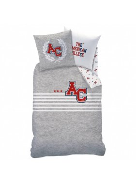 American College Dekbedovertrek Stripes 140x200cm Polycotton inclusief pyjama bag