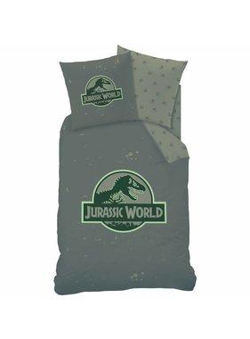 Jurassic World Dekbedovertrek Logo 140x200 cm