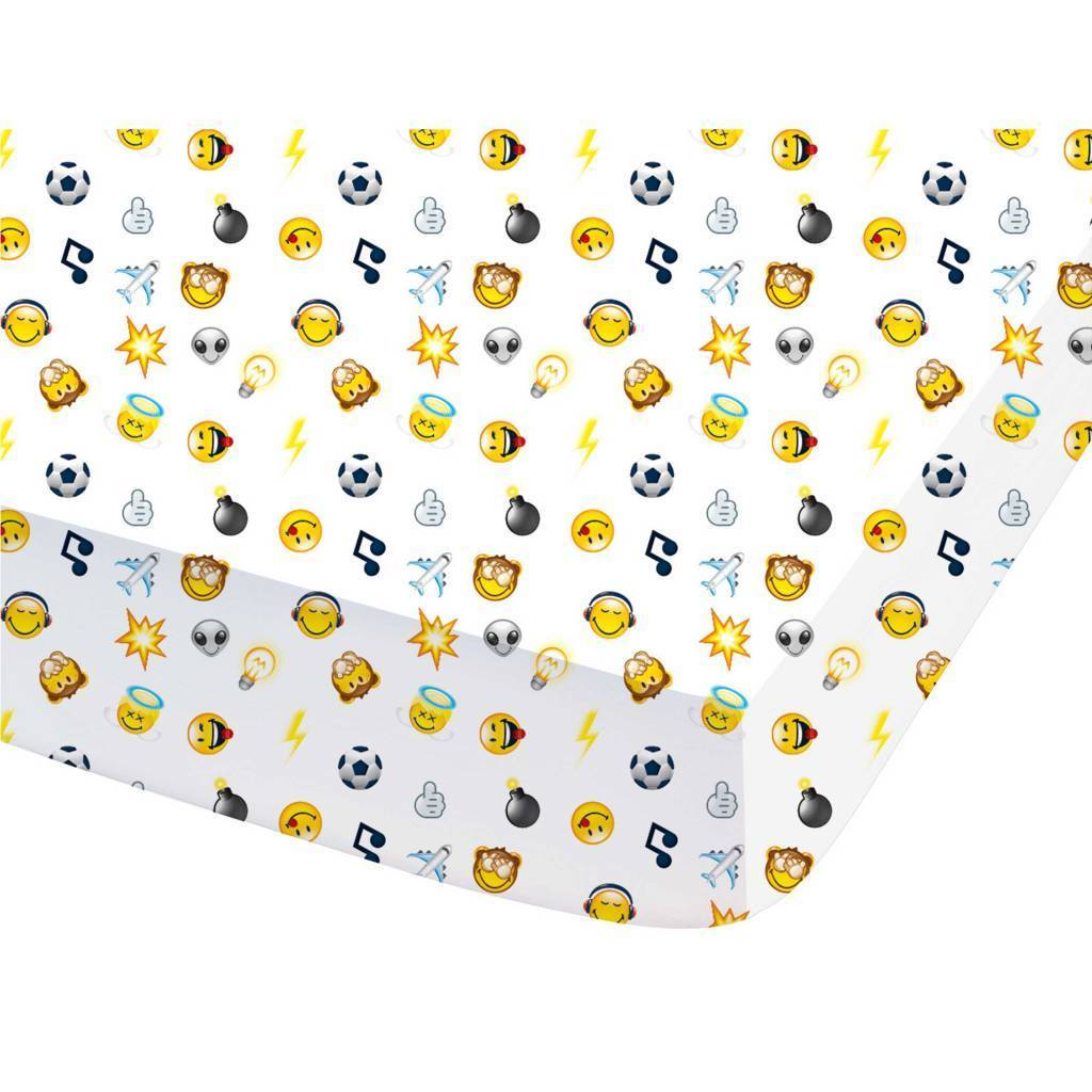 Smiley Mood - Fitted sheet - Double - 140 x 200 cm - Multi