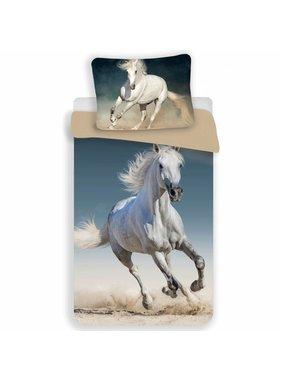 Animal Pictures Dekbedovertrek wit paard