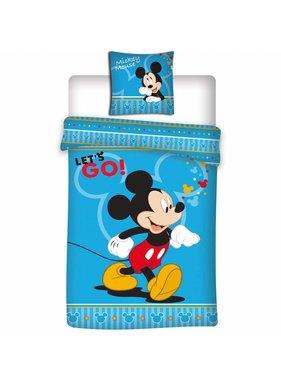 Disney Mickey Mouse Dekbedovertrek Let's Go 140x200 cm