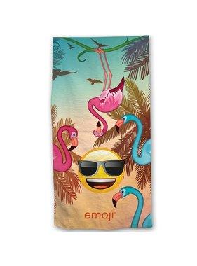 Emoji Beach towel Flamingos