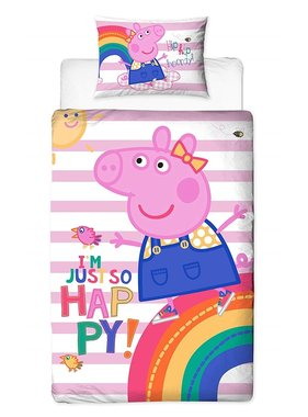 Peppa Pig Duvet cover Hooray single
