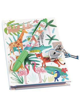 Floss & Rock Dagboek Jungle inclusief slot en geurpen