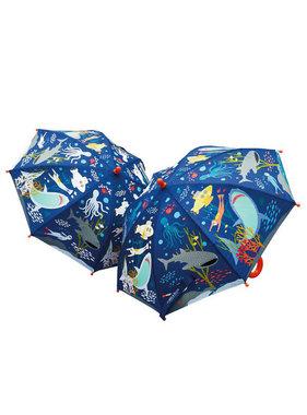 Floss & Rock Kleur veranderende magische paraplu Oceaan