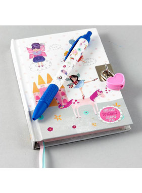 Floss & Rock Unicorn diary including lock and scent pen