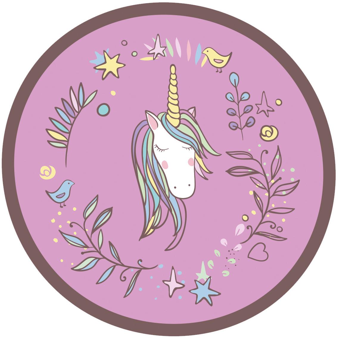 Unicorn Badjas - maat 98/104 - Paars