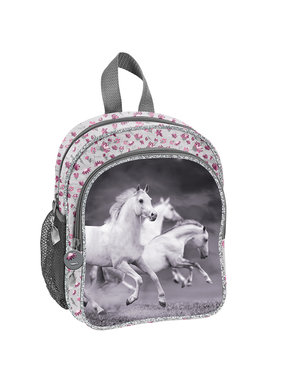 Animal Pictures Witte Paarden Peuter Rugzak 26 cm