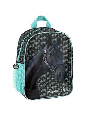 Animal Pictures Black Horse Toddler Backpack 28 cm