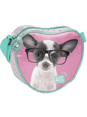 Studio Pets Chihuahua Glasses Shoulder bag 18cm