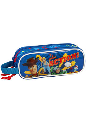 Toy Story Takin 'Action! pencil case with two zippers 21 x 8 cm