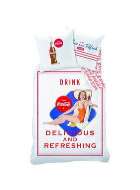Coca Cola Dekbedovertrek Suzanna 140x200 + 63x63 katoen