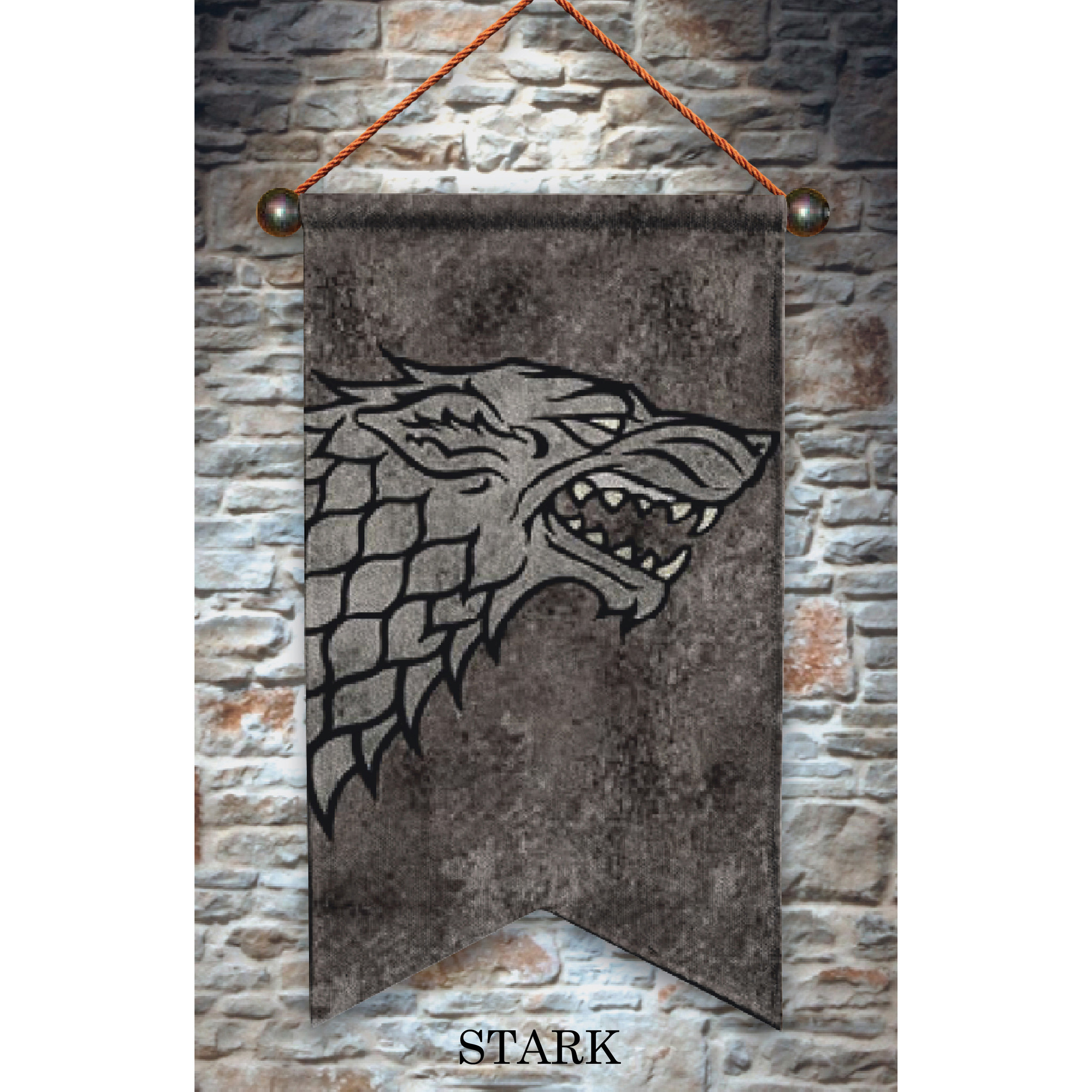 Game of Thrones Stark - Wall hanging - 65 x 118 cm - Multi