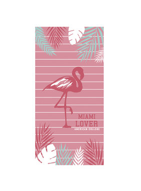 American College Beach towel Flamingo 75 x 150 cm