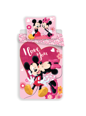 Disney Minnie Mouse Dekbedovertrek I Love You 140 x 200 cm