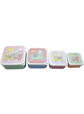 Lama Lunchbox set Happy Lama's 4 delig