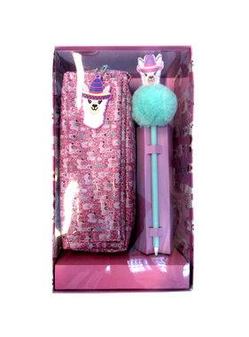 Lama Etui 21 cm met pen - Giftbox